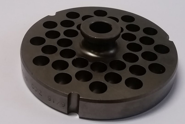 "German Made 3/8"" D2 Tool Steel #22 Grinder Plate with Hub for Biro Grinders"