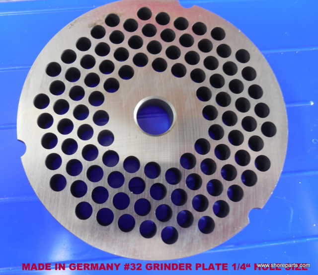 "German Made 1/4"" Hole #32 Grinder Plate for Biro 342, 346, 548 Grinders"
