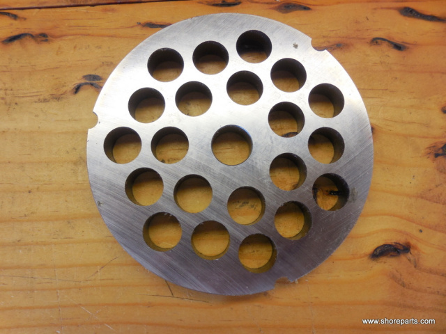 "German Made 1/2"" Hole Grinder Plate for Biro #32 Head Meat Grinders"