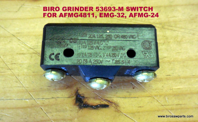 Safety Switch for Biro AFMG-4811, EMG-32 & AFMG-24 Meat Grinders. Replaces 53693-M