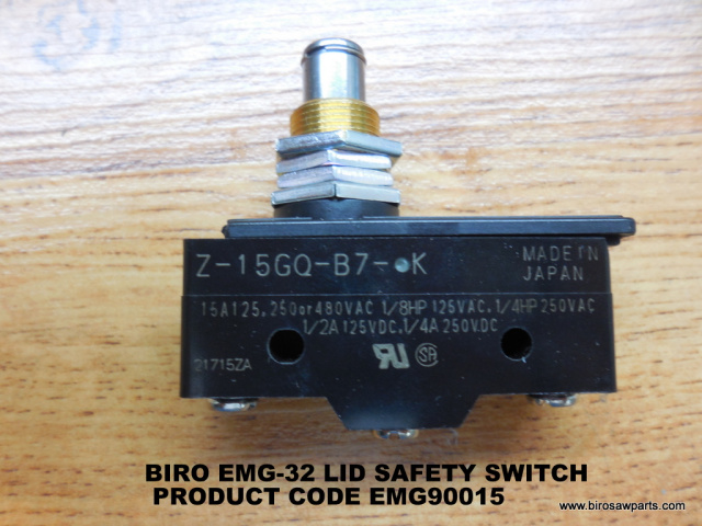 Lid Safety Switch for Biro EMG-32 Meat Grinders. Replaces EMG90015