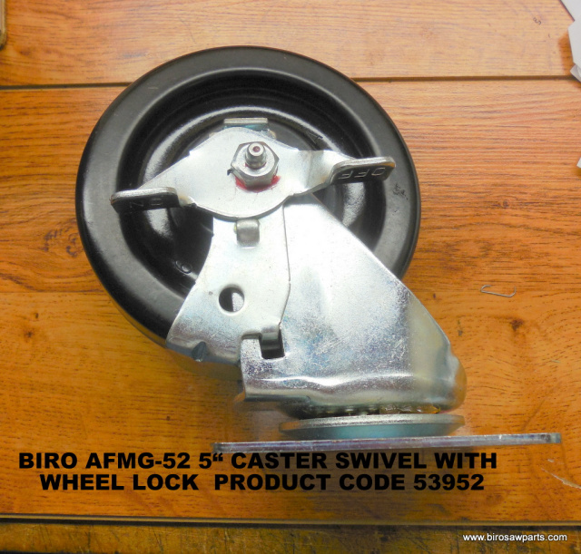 Locking Swivel Caster for Biro AFMG-52 Meat Grinder. Replaces 53952