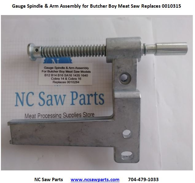 Gauge Spindle and Arm Assembly For Butcher Boy Saw Replaces 0010284