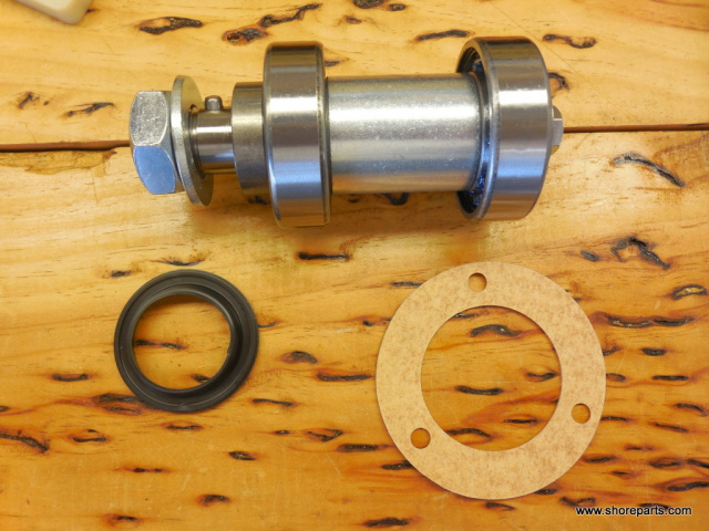 BUTCHER BOY SAW #101574 UPPER WHEEL SHAFT ASSEMBLY W/ SEALS FOR MODELS B12 , B14, B16, 1435, 1640, S
